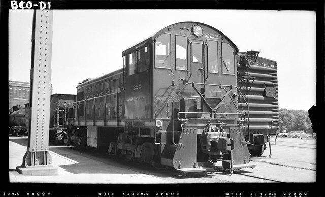 B&O 222 S1 in Georgetown, July, 1953