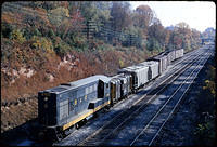 B&O H-10-44 #9700 Brings cars across the Met., (Dec 1967)
