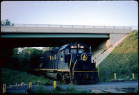 B&O GP38 #3823 beneath Lyttonsville Pl., (?)