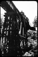 Rock Creek trestle, westbound ca. 1946