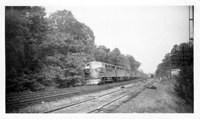Engine 83 passing Geo. Jct. 5/16/48